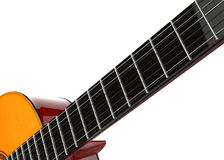 Guitar fretboard closeup shot Royalty Free Stock Photos