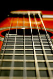Guitar frets Royalty Free Stock Photo