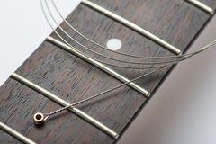 Guitar frets with string Royalty Free Stock Photo