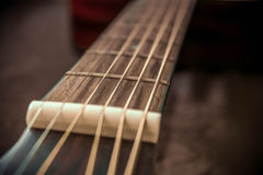 Guitar frets and strings Royalty Free Stock Images