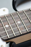 Guitar frets with strings Royalty Free Stock Photography
