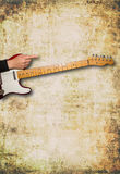 Guitar front view with space for text Royalty Free Stock Images