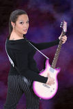 Guitar Girl 01 Stock Photo
