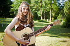 Guitar girl Stock Image