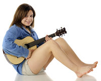 Guitar Girl Stock Images