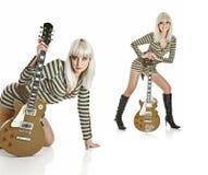 Guitar and girl Royalty Free Stock Photos