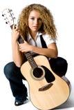 Guitar Girl Royalty Free Stock Photography