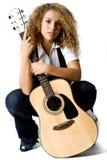 Guitar Girl Stock Photo