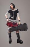 Guitar girl Stock Photos