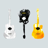 Guitar graphic art1. Guitar graphic art design music nature Royalty Free Stock Photos