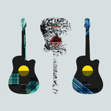 Guitar graphic art4 Royalty Free Stock Photo