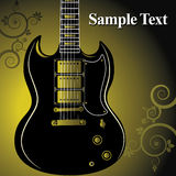 Guitar on grunge background Stock Image