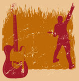 Guitar Grunge Background Royalty Free Stock Photos