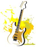 Guitar with grunge pattern Stock Image
