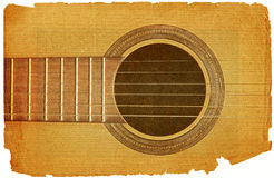 Guitar in grunge style Stock Image