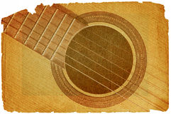 Guitar in grunge style Royalty Free Stock Photography