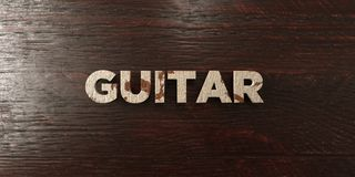 Guitar - grungy wooden headline on Maple  - 3D rendered royalty free stock image Royalty Free Stock Images