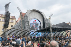 Guitar Guinness World Record event in Poland May 1 Stock Photos