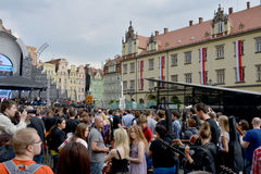 Guitar Guinness World Record event in Poland May 1 Stock Image