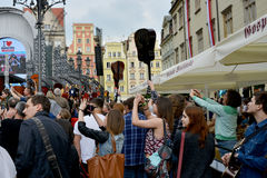 Guitar Guinness World Record event in Poland May 1 Royalty Free Stock Photo