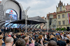 Guitar Guinness World Record event in Poland May 1 Royalty Free Stock Photography