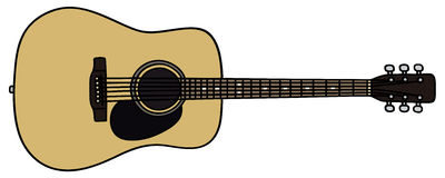 Guitar. Hand drawing of a guitar Royalty Free Stock Photo