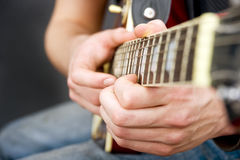Guitar hands Royalty Free Stock Photo
