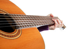 Guitar in hands Royalty Free Stock Photo