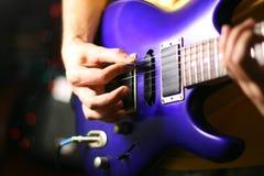 Guitar hands Royalty Free Stock Photos