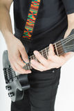 Guitar. hands. musician Royalty Free Stock Image
