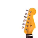 Guitar Head. Head of electric guitar isolated on white background Royalty Free Stock Images