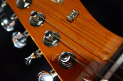 Guitar head. Close up of guitar head Royalty Free Stock Images