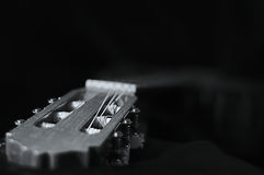 Guitar head in Black and white. Picture of Guitar head in Black and white royalty free stock photo