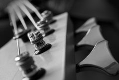 Guitar Head Closeup, Black And White Stock Photos