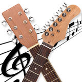 Guitar head duo Royalty Free Stock Photo