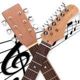 Guitar head duo Royalty Free Stock Photo