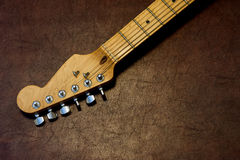 Guitar head and neck  detail Royalty Free Stock Photo