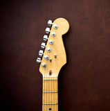 Guitar head and neck  detail Royalty Free Stock Photography