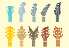 Guitar head stock icon Royalty Free Stock Photos