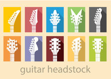 Guitar head stock. A music, vector background with Guitar headstocks Stock Photo