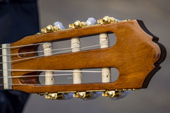 Guitar head with strings Royalty Free Stock Photography