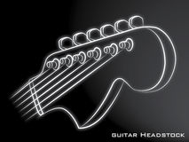 Guitar Headstock black background Royalty Free Stock Images