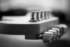 Guitar headstock close-up Stock Photo