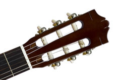 Guitar Headstock Front View. Front view of classical guitar headstock Royalty Free Stock Image