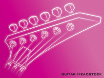 Guitar Headstock pink background. Guitar head stock icon music pink Royalty Free Stock Photography