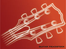 Guitar Headstock red background. Guitar head stock icon music Royalty Free Stock Photography