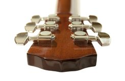 Guitar of headstock on a white background Royalty Free Stock Image