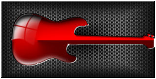 Guitar Hexagons Background Royalty Free Stock Images