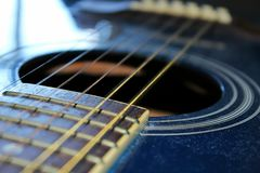 Guitar hole Royalty Free Stock Photography