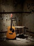 Guitar of a homeless man Stock Image
